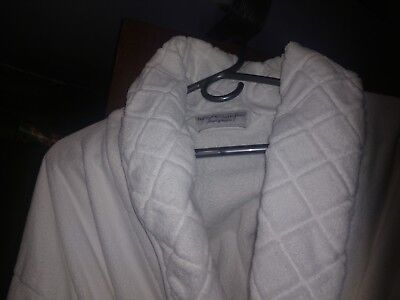 """lux Collection/frette"" Bathrobe From Grosvenor Hotel (Hvy Cotton, Unisex,white)"