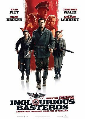 Inglourious Basterds Movie Art Silk Poster 8x12 24x36 24x43