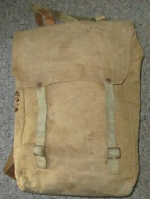 World War One 1908/15 Pattern Leather Haversack Dated 1916