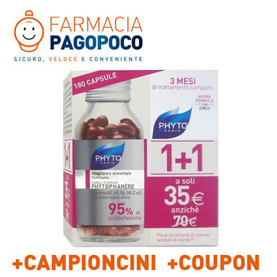 Phyto Phytophanere Bipack 90+90 Capsule Ales Unghia E Capelli +Omaggi +Coupon