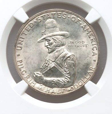 1920 NGC MS65 Pilgrim Attractive Tercentenary Commemorative Half Commem Gem BU