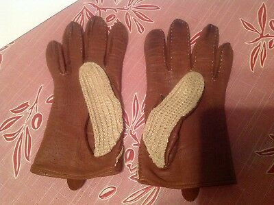 Dents Womens Driving Gloves Size Medium+A Black Leather Pair