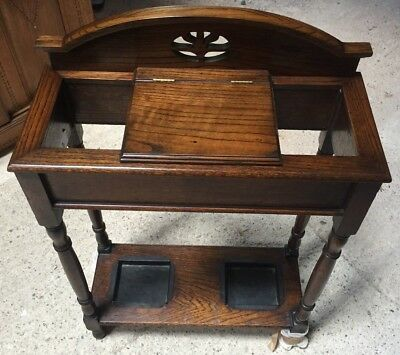*clearance* Low £££ Antique Quality Oak Victorian Hall Stick Umbrella Stand