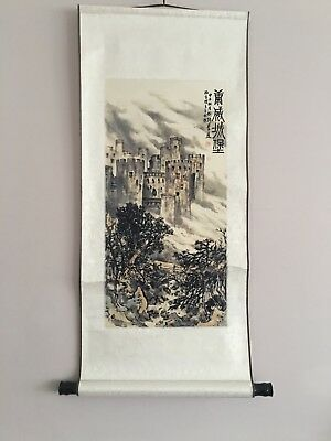 Chinese wall scroll,Conwy Castle