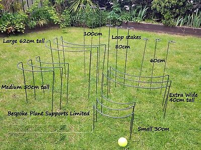 Plant Supports/stakes 3 packs (Metal) in various sizes in 6mm mild steel.