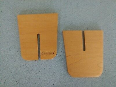 Longaberger Wood Crafts 2 piece divider set for your Small Spoon basket