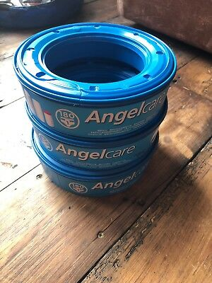 3 x Angelcare Nappy Disposal System Refill Cassettes