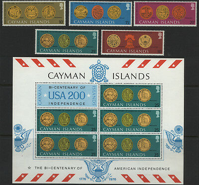 Cayman Islands American Bicentenary Stamps and Souvenir Sheet