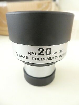 "Vixen NPL 1+1/4"" 20mm 50 degree view fully multi coated telescope eyepiece"