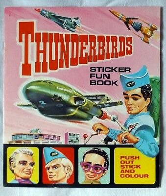 THUNDERBIRDS Sticker Fun Book JR21 Gerry Anderson