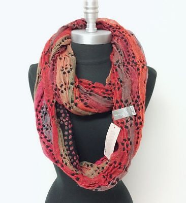 Women's Knit Crochet Infinity Loop Scarf 2-Circle Wrap Soft Multi-Color#t3y