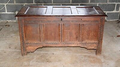 Old Antique Oak Blanket Chest/coffer