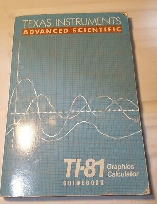 Texas Instruments TI-81 TI 81 Graphing Calculator Guidebook User Manual