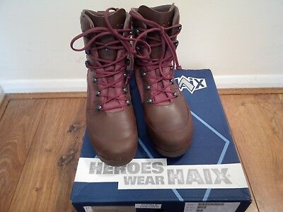 HAIX Combat High Liability Boots British Army Issue Brown Leather Male Size 9M
