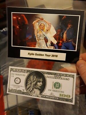$♡ Kylie Golden Tour Dollar Note ♡$ Not Many Of These Were Given Out  With Photo