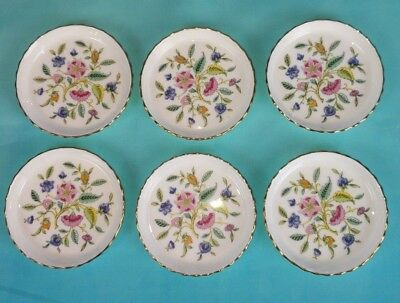 Minton Haddon Hall Blue - Jam Dish Butter Pat Sushi Trinket 6 Pieces