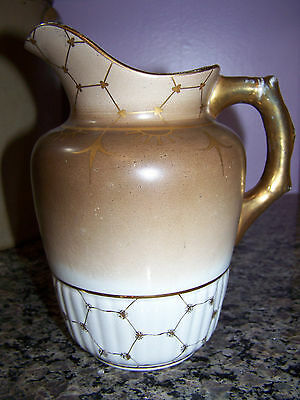 Antique Nessly Pottery Pitcher Mid to Late 1800's Extremely Rare Item