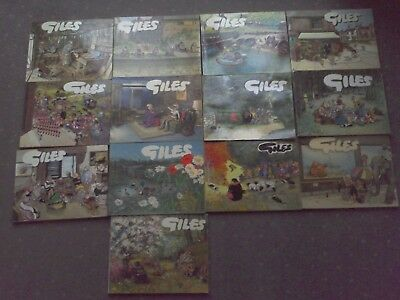 13 Collectable Vintage Giles Cartoon Books 1960's to 1980's