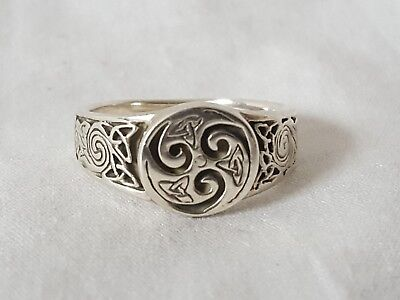 Sterling Silver Celtic Knotwork Ring by Peter Stone Size 4, and 81/2 Available