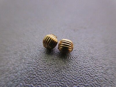 14K Gold Filled Corrugated Round Bead Spacer 4mm 2pcs