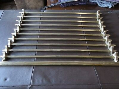 Brass Stair Carpet Rods And Brackets All Cleaned L@@K