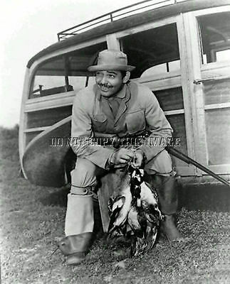 Antique Pintail Duck Hunting Repro 8X10 Photograph Actor Clark Gable
