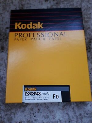Kodak Polymax Fine-Art FD Black And White 100 Sheets Glossy 8x10 unopened OOP