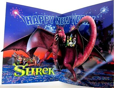 Dreamwork's SHREK for your consideration POP UP AD Happy New Year 2001 Trade Mag