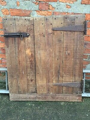 RECLAIMED INTERNAL STABLE DOOR WITH HINGES AND LATCH 1.01m high X 90cm wide