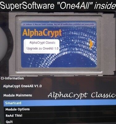 CI Modul AlphaCrypt Classic One4All 1.0 HD+HD01 HD02 ORF SRG K09 D09 One for All