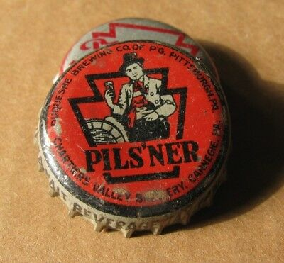 Duquesne Brewing Pils'ner  Beer Cork Cap Pittsburgh Pa Keystone Tax