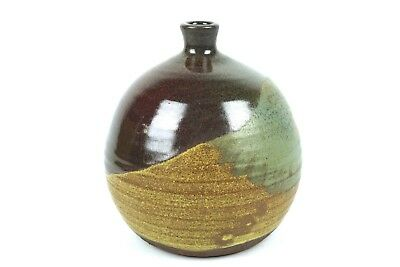 Rare Jean Ellsworth Pottery Bottle Vase Vessel Vtg Modern Pacific Stoneware