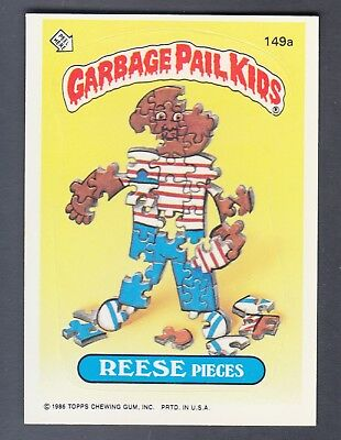 1986 Series 4 Garbage Pail Kids #149A Reese Pieces Nm-Mint Sharp Rare Version!!!