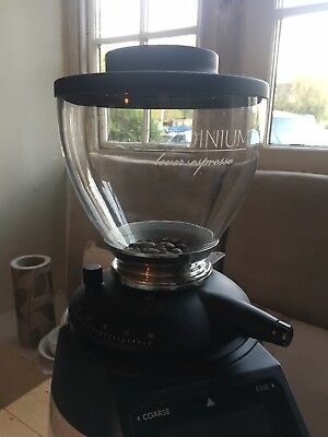 Compak Coffee grinder glass hopper, brand new with londinium etched on glass
