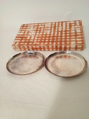Japanese Hammered Metal Dishes
