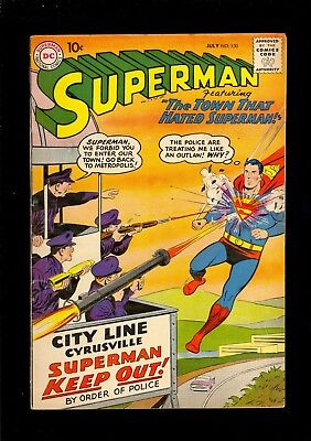 Superman #130  Very Good  1959  .10 Cover     Comic Kings