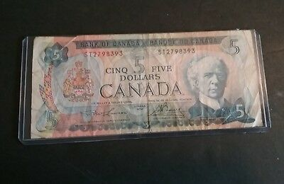1972 Bank Of Canada $ 5 Five Dollars Bill Lawson Bouey ST2798393 Money