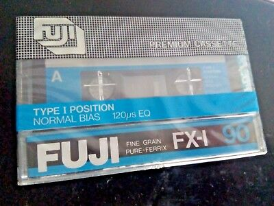 CASSETTE TAPE BLANK SEALED - 1x (one) FUJI FX-I 90 [1980-1981] made in Japan