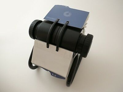 Rolodex Indexed Open Rotary Business Card File with 300 Clear Refill Sleeves