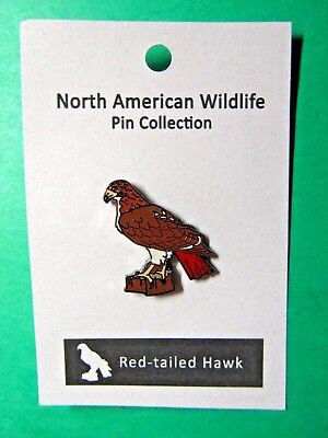 North American Wildlife Red-Tailed Hawk Lapel Hat Pin (51)