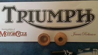 """2 Leather 3/4"""" Triumph Tyre Pump Washers Motorcycle Bicycle."""