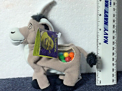 SHREK The 1st - Candy Stasher -  Donkey Toy Doll NEW W/ Tags & Candy NONE EXIST
