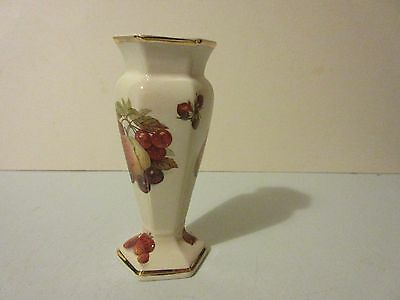 "Royal Worcester bud vase.  Palissy ""Royale Collection Fruit"" Bud Vase."