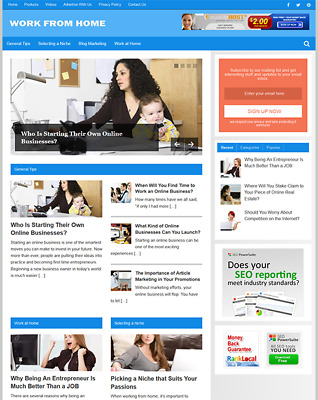 WORK FROM HOME - Fully Featured Niche Website For Sale - Newbie Friendly