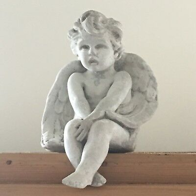 Antique Vintage Angel Cherub Stone/ Mantle/Amoire /Outdoor Garden