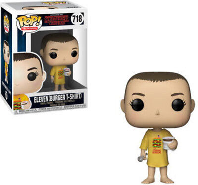 Stranger Things - Eleven In Burger T-Shirt - Funko Pop! Televi (2018, Toy NUEVO)