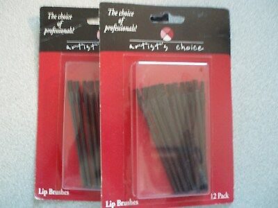 Disposable Lip Brushes 48 Pcs. (4pks 12ct) US Seller New in Packs Artist Choice