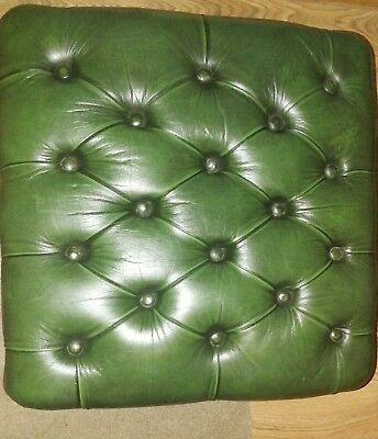 Chesterfield Stool Green - Great For Project
