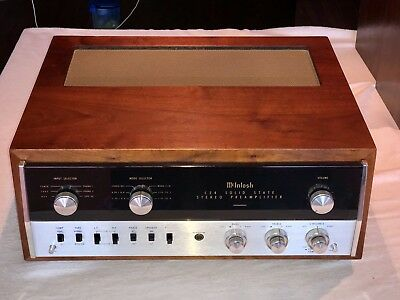 Excellent 1968 McIntosh C-24 Pre-Amp Serviced, Cleaned in Walnut Cabinet Perfect