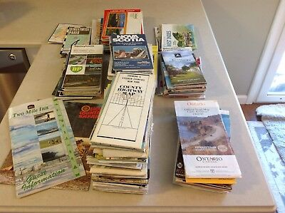 Lot of over 100 Vintage Road/City maps Mostly  USA, Some Canada, Europe